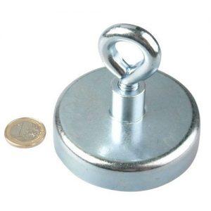 Oesenmagnet 75mm Neodym Zink - Haftkraft 160kg